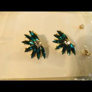 New beautiful green flower earrings